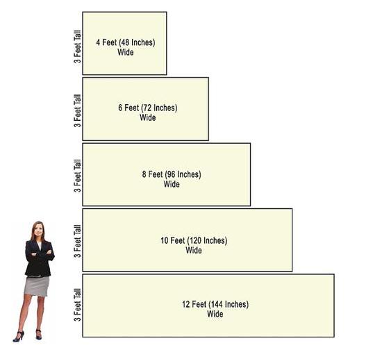 سایز های استاندارد در بنر