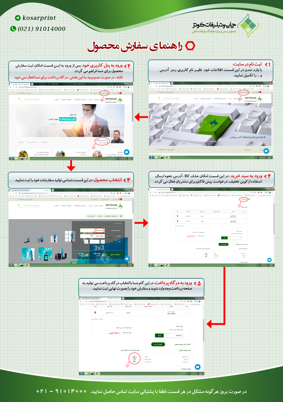 راهنمای سفارش محصول